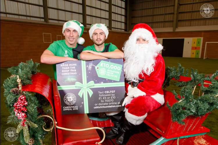 Celtic donate £10,000 to kick-off Foundation Christmas Appeal