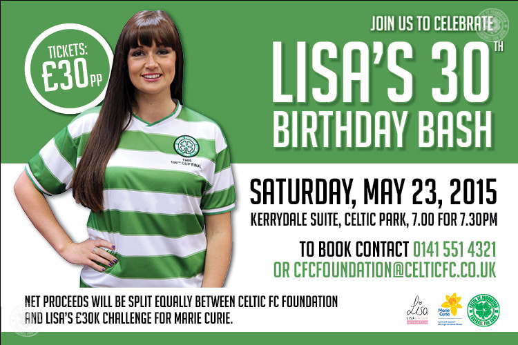 Lisa can't wait to party with supporters at 30th birthday bash