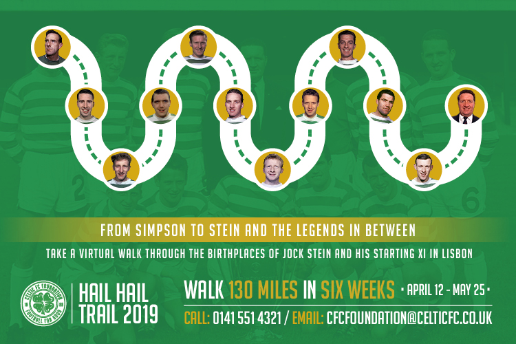 Join Celtic FC Foundation's Hail Hail trail 2019