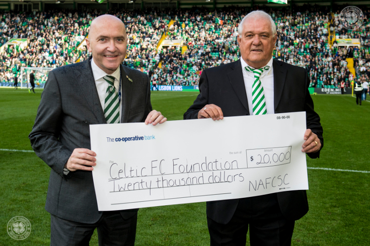 North American Federation of Celtic Supporters' Clubs donate $20,000 to Ce
