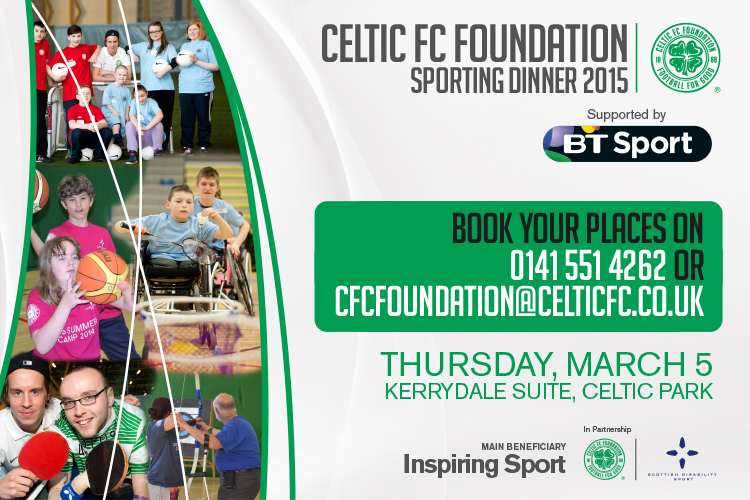 Celtic FC Foundation Sporting Dinner sold out