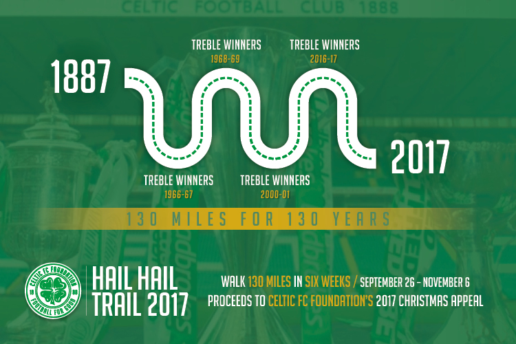 Sign up for Celtic FC Foundation's Hail Hail Trail