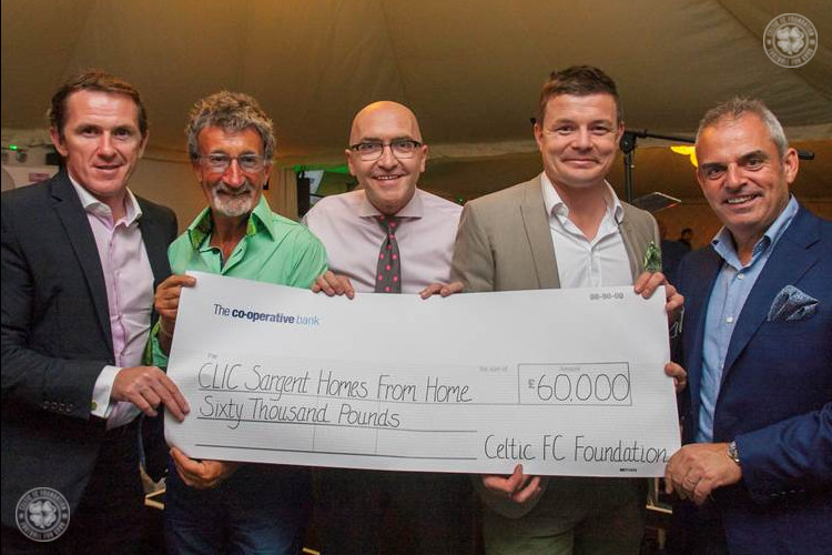 Celtic FC Foundation donates £60k to CLIC Sargent cancer charity