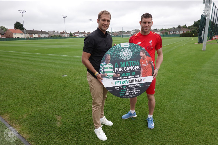 James Milner announces his squad for 'A Match For Cancer'