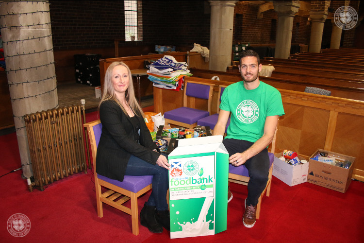 Walfrid's Wish - Craig Gordon visits Glasgow NE Foodbank