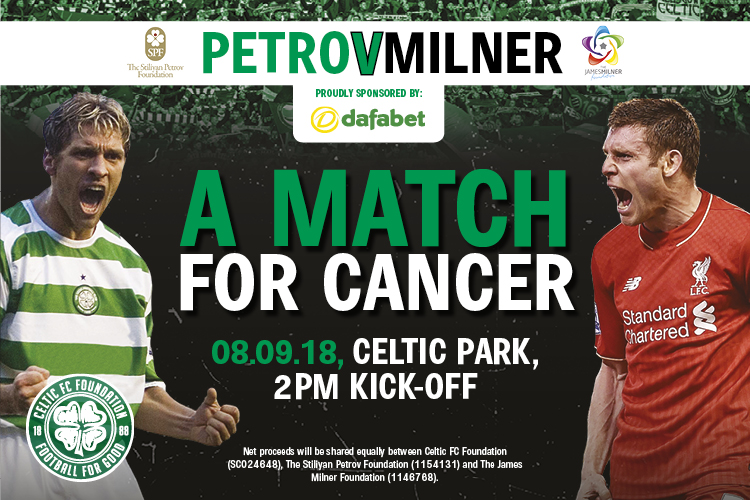 Friends reunited for 'A Match For Cancer' at Celtic Park