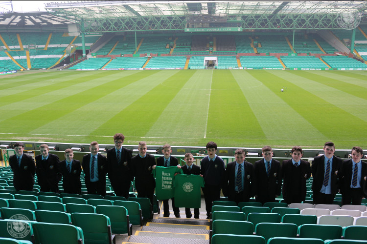 John Paul Academy pupils step up to support Celtic FC Foundation