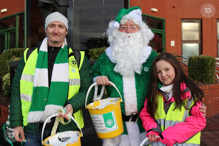 Foundation's Christmas Appeal bucket collection at Killie game
