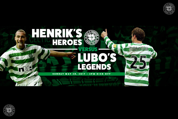 Henrik's Heroes v Lubo's Legends for Celtic FC Foundation in 2017