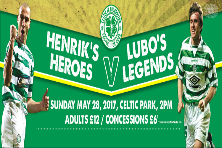 Tickets on sale for Henrik's Heroes v Lubo's Legends charity match