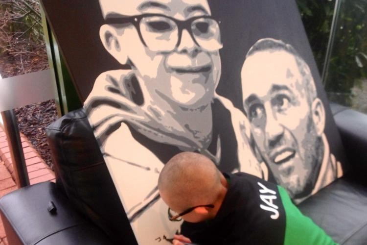 Wee Jay puts Fernando Ricksen and MND in the picture
