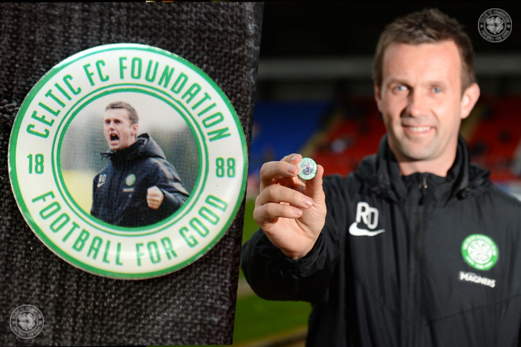 Ronny roars for Celtic FC Foundation's Badge Day