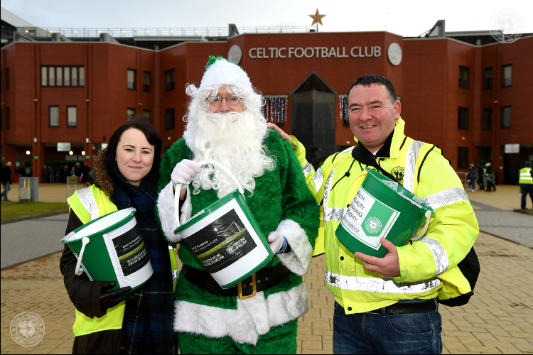 Celtic FC Foundation bucket collection prior to Motherwell match