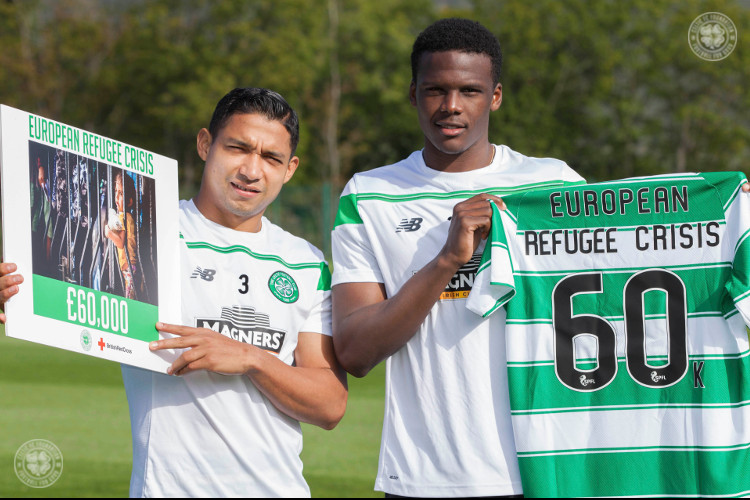 Celtic supports European refugee crisis with £60,000 donation